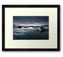 Glacier Lagoon August 2009 #2b Framed Print