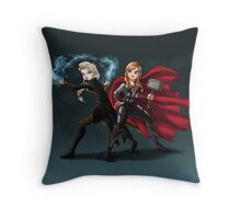 Thunder and Frost Throw Pillow