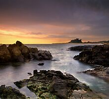 Bamburgh Castle Dawn by Phillip Dove