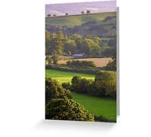 Exe Valley View Greeting Card
