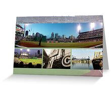 Pittsburgh, PA: PNC Park Collage Greeting Card