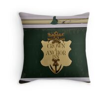 crown anchor inn Throw Pillow
