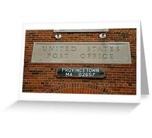 provincetown post office Greeting Card