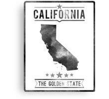 California State Typography Print Canvas Print