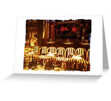 Cafe chairs, Paris, France Greeting Card