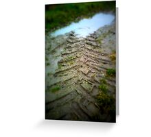 Where the mud ends Greeting Card