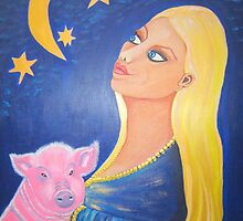 Woman with Pig (2009) by Deva Saal