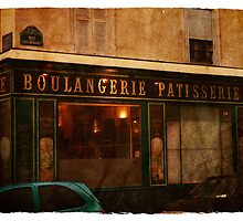 Boulangerie, Paris, France by easelarts