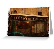 Boulangerie, Paris, France Greeting Card