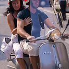 Italians on scooters by Neil Buchan-Grant