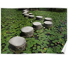 Stepping Stones, Heian-Jing Shrine  Poster