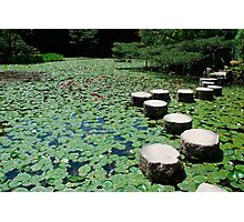 Stepping Stones at Heian-Jing Shrine  Photographic Print