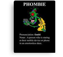 Phombie - Mobile Phone Zombie Canvas Print