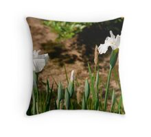 White Irises at Koko-En Gardens  Throw Pillow