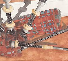 Highland Pipes II by Ken Powers