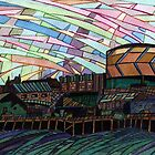 150 - BLYTH RIVERSIDE VIEW - DAVE EDWARDS - WATERCOLOUR & INK - 2005 by BLYTHART
