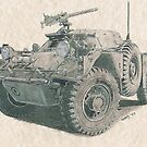 Ferret Scout Car by Don Ward