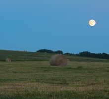 Moon above the prairies by zumi