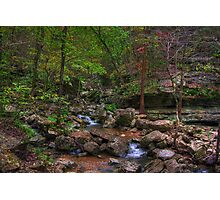 Blanchard Springs Little Stream Photographic Print