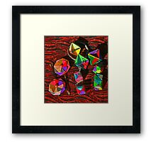 Origami Miniatures Framed Print