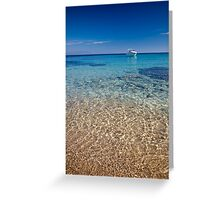 Mykonos beach Greeting Card
