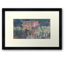 (Elephant) Charging Framed Print