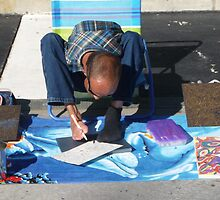 Local Artist On Lincoln Road ... by Danceintherain