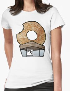The 'Real' Donut Store. Womens Fitted T-Shirt
