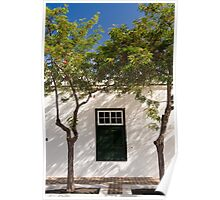 Yaiza window & trees Poster