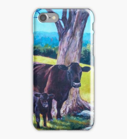 Cows and Calves iPhone Case/Skin