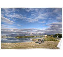 Rowing Course and Ski Area, Lake Ruataniwha Poster