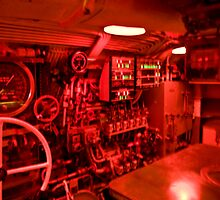 Control room of a WWII era submarine  by Mountainimage