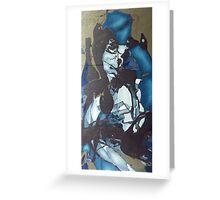 blue shadow, 24''x 48''. oil on wood. Greeting Card