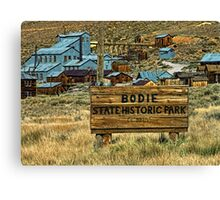 Welcome To Bodie Canvas Print