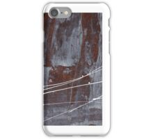 Angst I - Painting - Oil And Emulsion Paint On Board iPhone Case/Skin