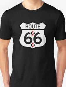 Route 66 Red and Black Harlequin T-Shirt