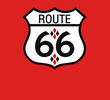Route 66 Red and Black Harlequin Unisex T-Shirt
