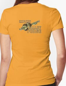 Valley Forge Space Freighter - back Womens Fitted T-Shirt