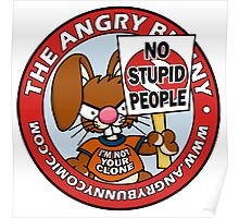 No Stupid People Logo Poster