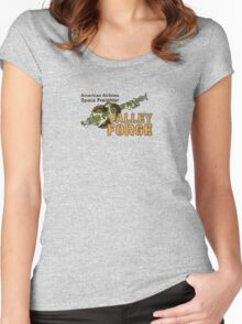 Valley Forge Space Freighter - front Women's Fitted Scoop T-Shirt