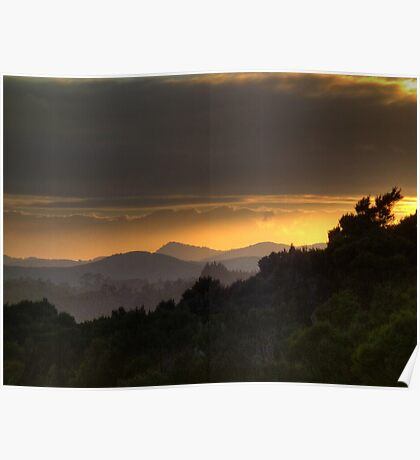 Hazy winter sunrise........ Poster