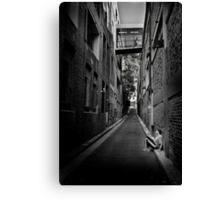 Down and Alone Canvas Print