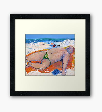 While you were sleeping or ..Beached As ;-)) Framed Print