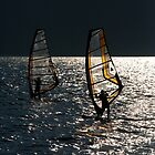 Windsurfers on Lake Garda by Neil Buchan-Grant