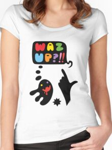 waz up holmes?  Women's Fitted Scoop T-Shirt