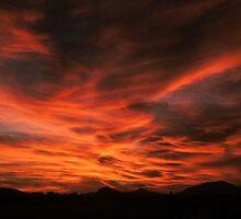 Criss Cross sky- sunset in AZ by johntbell