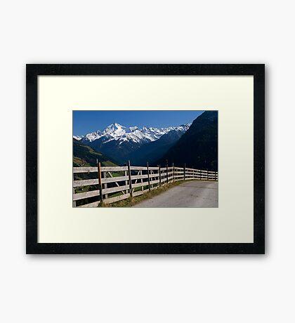Alpine Fence Framed Print