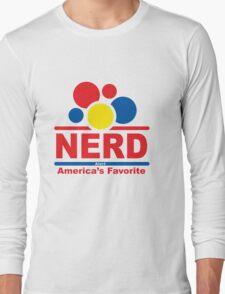nerd alert white  Long Sleeve T-Shirt