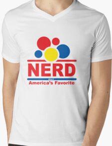 nerd alert white  Mens V-Neck T-Shirt