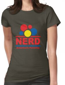 nerd alert white  Womens Fitted T-Shirt